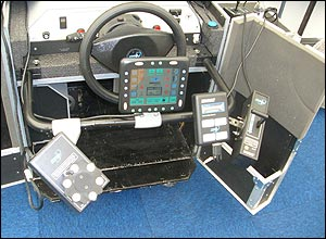Photo of the accessible, real-time driving simulator