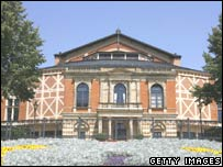 The festival hall in Bayreuth