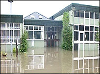Floods at St Richard Gwyn High School, Barry