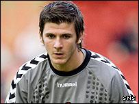 Dundee Utd goalkeeper Lukasz Zaluska