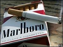 Packet of Marlboro cigarettes