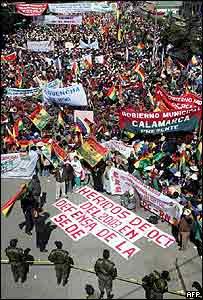 Manifestación en La Paz
