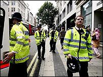Police on patrol in central London