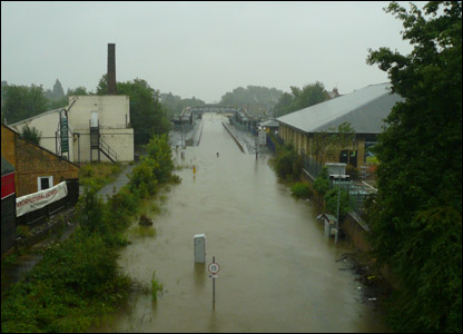 Moreton-in-Marsh Railway Station flood UGC