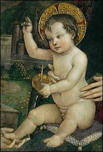 Detail of painting showing Jesus