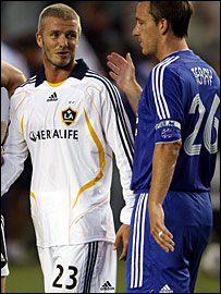 David Beckham and England team-mate John Terry