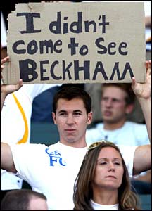 A fan who is not a Beckham fan