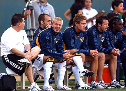 David Beckham ignores the action