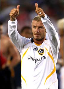 David Beckham gives the thumbs up