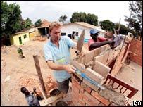 Tobias Ellwood in Rwanda