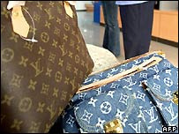 Counterfeit Louis Vuitton bags