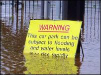 Flooded car park Worcester (Pic: Luke Albrain)