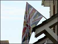 Loyalist flag in Castlemara