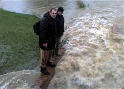 Floods at Bishops Cleeve, Cheltenham