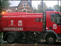 Liverpool's 'Sweeper Zone' truck