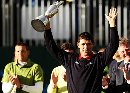 Ireland's Padraig Harrington with the Claret Jug