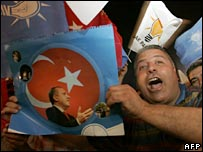 AKP supporters celebrate in Ankara