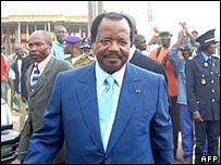 Cameroonian President Paul Biya 