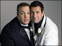 Kevin James and Adam Sandler