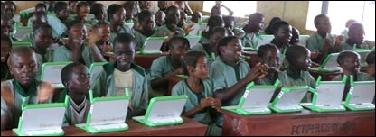 Students at a school in Nigeria