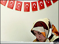 Voter in Turkey