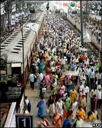 People at India railway station