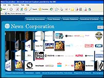 El sitio web de News Corporation