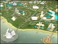 Plans for the new resort ( image: Turkmenistan TV)
