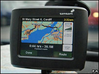 A Tom Tom satellite navigation system