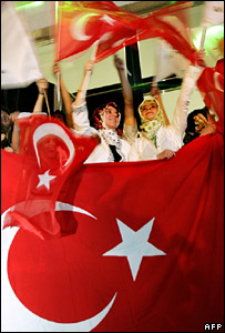 AKP supporters in Ankara