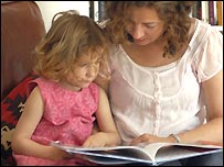 Parents reading with children