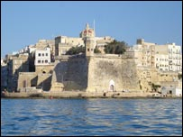 Malta's harbour walls