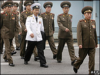North Korean officers attend the talks in Panmunjom - 24/07/07