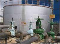 Емкости на руднике в Казахстане