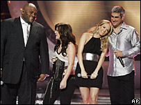 Former American Idol winners Ruben Studdard, Kelly Clarkson, Carrie Underwood, and Taylor Hicks