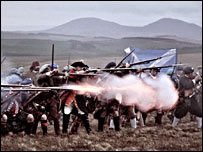 Scene from the battle re-enactment