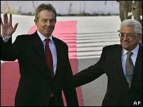 الرئيس الفسطيني  ومبعوث الرباعي الدولي توني بلير