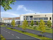 Computer image of the new Pembury Hospital