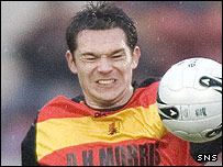 Young in action for Partick Thistle