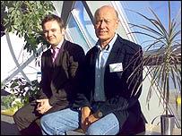 Professor Jim Barber (right) with Jason Ormiston, chief executive of Scottish Renewables