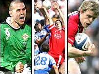 Soccer, Gaelic football and rugby picture