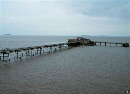 Birnbeck Pier, Weston-super-Mare, North Somerset