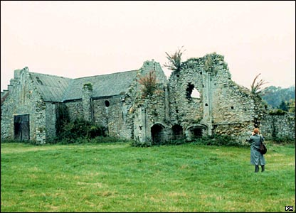 The remains of Quar Abbey on the Isle of Wight