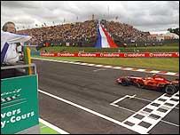 Kimi Raikkonen won this year's French Grand Prix at Magny-Cours