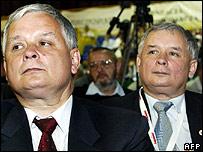 President Lech Kaczynski and Prime Minister Jaroslaw Kaczynski