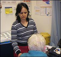 Dr Vuda Nagamma  with patient