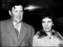 O'Brien with Marie McEntee en route to Ghana