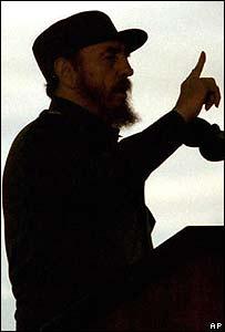 Silueta de Fidel.