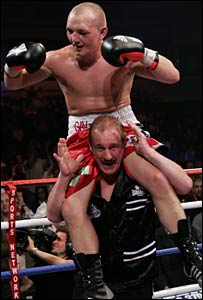 Gavin Rees and trainer Enzo Calzaghe