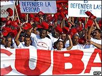 Trabajadores cubanos en La Habana